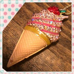 Ice Cream Cone Necklace 🍦💕🍦